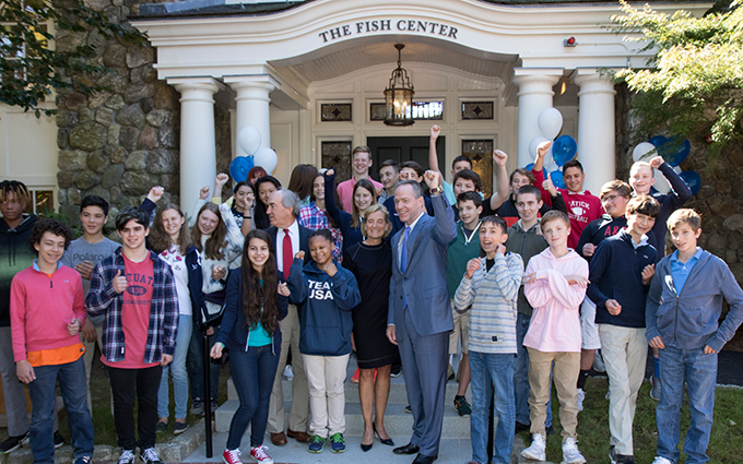 Carroll School Dedicates New Fish Center
