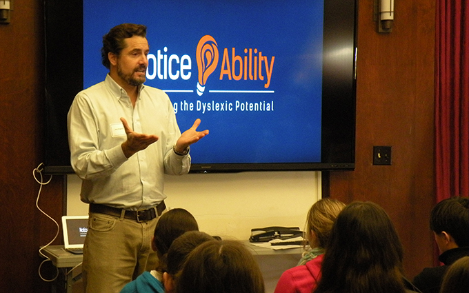Noticeability founder speaks to Middle School student